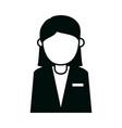 businesswoman character cartoon female portrait vector image