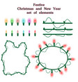 Christmas and new year collection of garlands