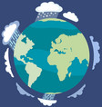 climate change around world concept earth vector image