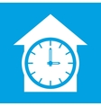 Clock white icon vector image vector image