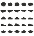 clouds set in silhouette style vector image vector image