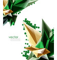 color glass crystals on white background vector image