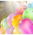 Colorful Balloons with confetti EPS 10 vector image vector image