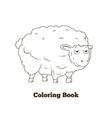 Coloring book sheep cartoon educational vector image vector image