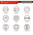 Concept Line Icons Set 3 Physics vector image vector image