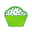 cupcake sign lemon scribble icon on white vector image vector image