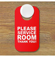Do Not Disturb Red Sign vector image vector image