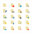 Document Flat Icons color vector image vector image