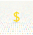 dollar sign on a digital background electronic vector image vector image