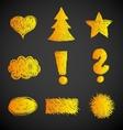 Doodle Symbols vector image vector image