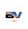 DV company linked letter logo vector image vector image