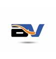 DV company linked letter logo