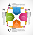 Education Infographics design template Pencil vector image vector image