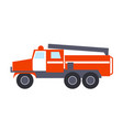 fire engine with ladder isolated vector image vector image