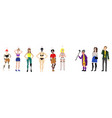 flat body positive women irritated people vector image vector image