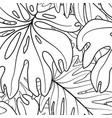 floral leaf seamless pattern leaves background vector image vector image