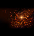 galaxi space background with nebula and stars vector image