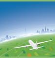 geneva skyline flight destination vector image vector image