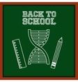 greenboard with school icon vector image vector image