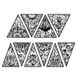 Hand drawn floral triangles vector image vector image