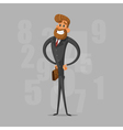 Happy businessman or manager is proud and pleased vector image