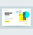 homepage template header for art gallery website vector image vector image
