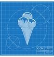 ice-cream icon Eps10 vector image vector image