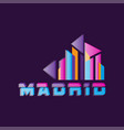madrid logo design with caption capital of vector image