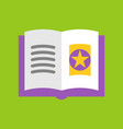 magic book halloween related icon flat design vector image vector image