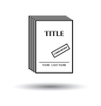 Manuscript under review icon vector image