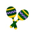 Maracas icon flat style vector image vector image