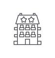 mini hotel line icon concept mini hotel vector image vector image