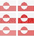 Mosaic Greenland flag set vector image vector image