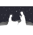 nativity scene mary with jesus and joseph vector image