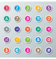 numbers 0 to 9 and symbols vector image vector image