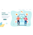 online food delivery concept vector image vector image