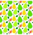 pattern juicy ripe pear vector image vector image