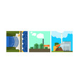 power plants clean and polluting energy vector image