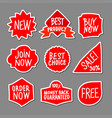 red advertising stickers vector image