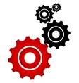 Red and black cogs vector image vector image