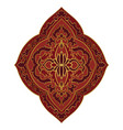 red medallion for design vector image vector image