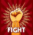 rised fist revolution protest emblem vector image