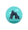 Rocks in the sea icon Summer Vacation vector image vector image