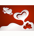 romantic greeting card design vector image