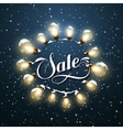 Sale Promotional Label Glowing Lights vector image vector image