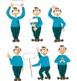 Set of 6 funny personage emotions vector image vector image
