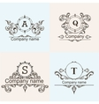Set ornamental company logos vector image