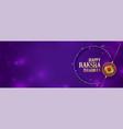 shiny raksha bandhan festival purple banner