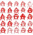 signs anarchy vector image vector image