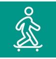 Skate Boarding vector image